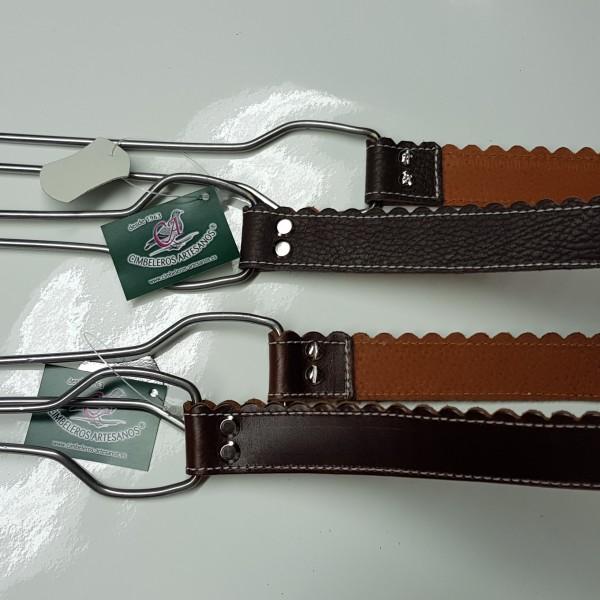 colgador de cuero para zorzales cimbeleros artesanos