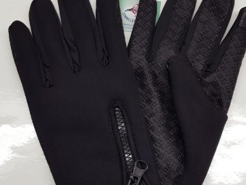 guantes negros tactiles