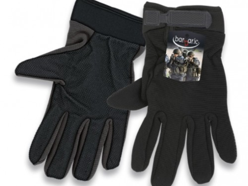 guantes negro con velcro